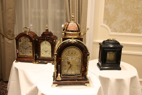 Some of the valuable clocks Adrian brought with him