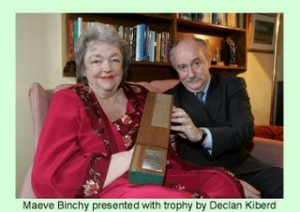 Much-loved Maeve Binchy received the Irish PEN award in January 2007