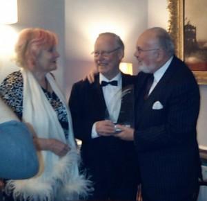 Anne Hartigan, Brendan Kennelly and Senator David Norris