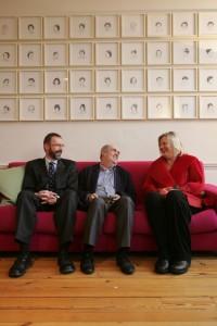 PEN Chair Joe Armstrong, Colm Toibin, Winner of the 2011 Irish PEN Award and Mary Cloake