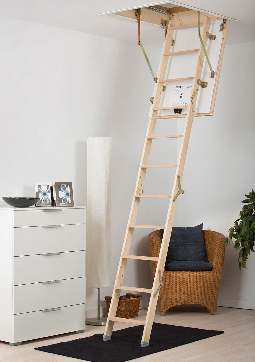 Timber Folding Mini The Loft Ladder Company