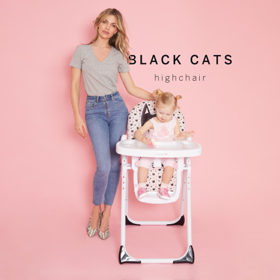 Black Cats Highchair - Catwalk Collection by Abbey Clancy