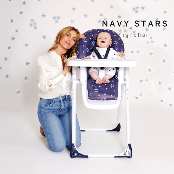 Navy Stars Highchair - Catwalk Collection by Abbey Clancy