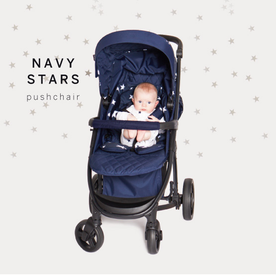 Navy Stars Pushchair - Catwalk Collection by Abbey Clancy