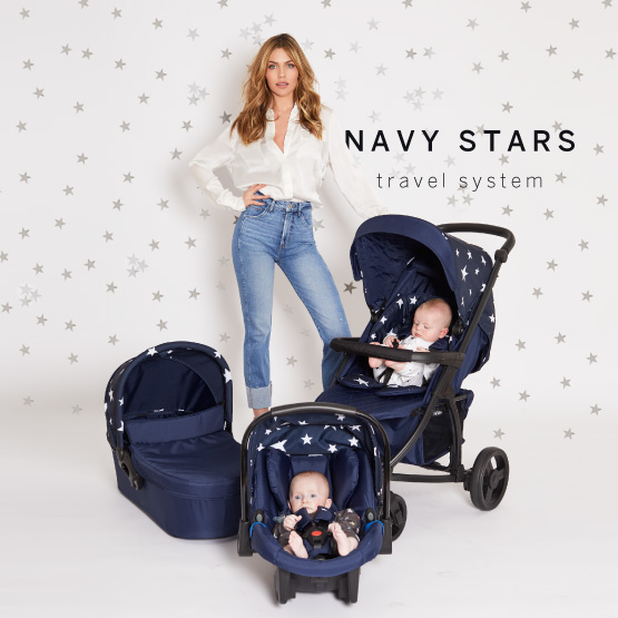 Navy Stars Travel System - Catwalk Collection by Abbey Clancy