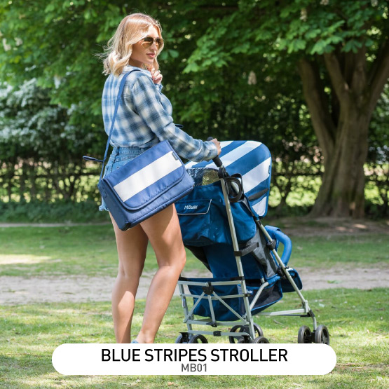 Blue Stripes MB01 Stroller - by Billie Faiers