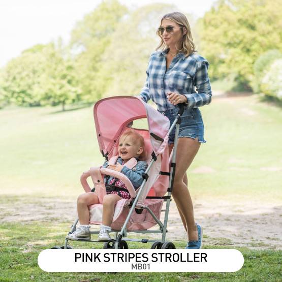 Pink Stripes MB01 Stroller - by Billie Faiers