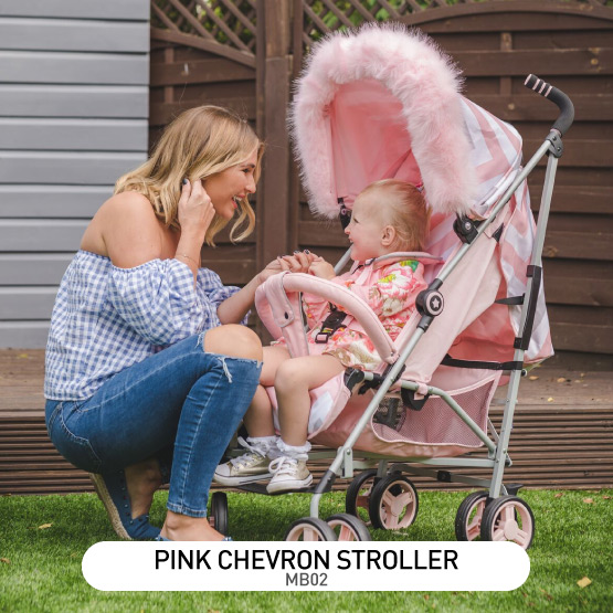 Pink Chevron MB02 Stroller - by Billie Faiers