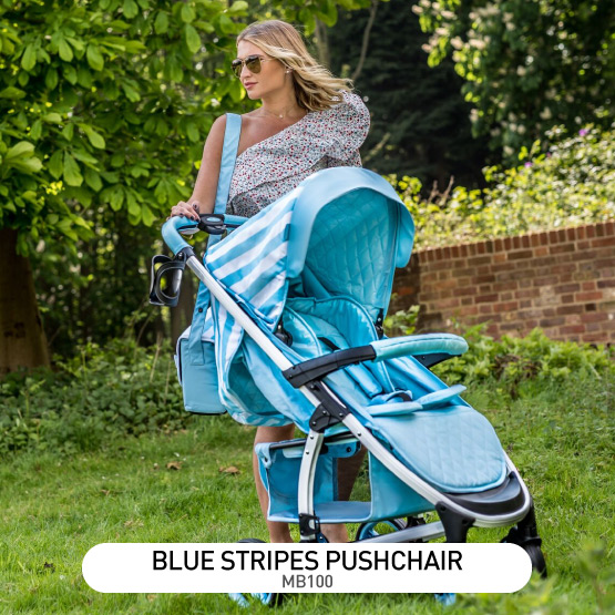 Blue Stripes MB100 Pushchair - by Billie Faiers