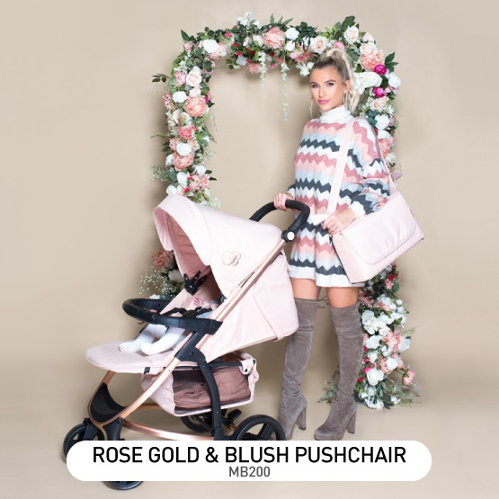 Rose Gold and Blush MB200 Pushchair - by Billie Faiers