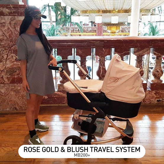 Rose Gold and Blush MB200 Travel System - by Billie Faiers