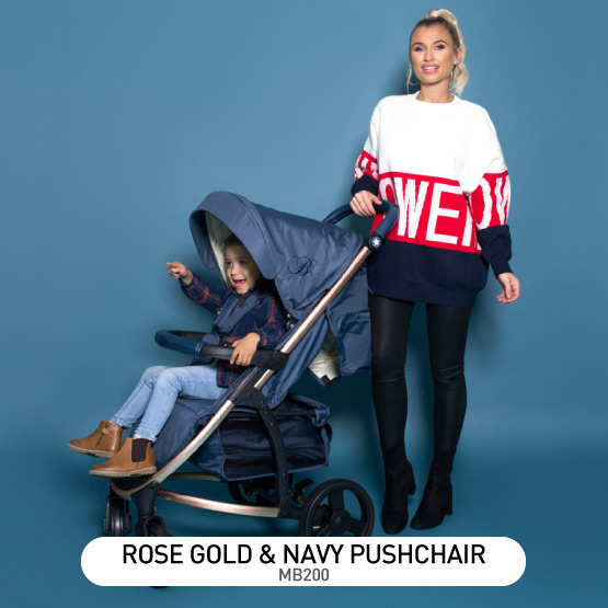 Rose Gold and Navy MB200 Pushchair - by Billie Faiers