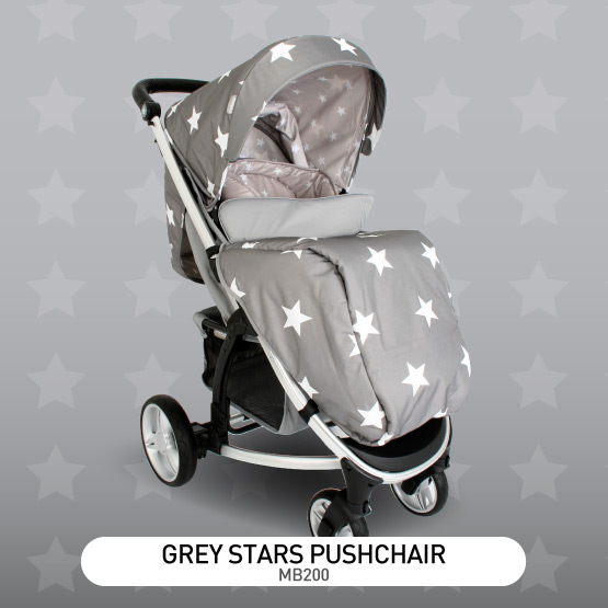 Grey Stars MB200 Pushchair - by Billie Faiers