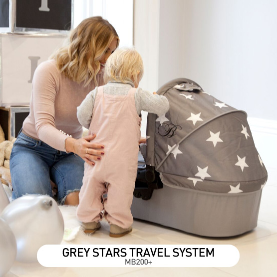 Grey Stars MB200 Travel System - by Billie Faiers