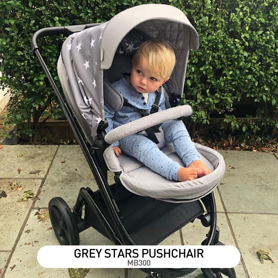 Grey Stars MB300 Pushchair - by Billie Faiers