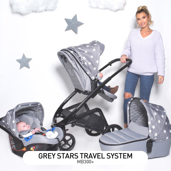 Grey Stars MB300 Travel System - by Billie Faiers