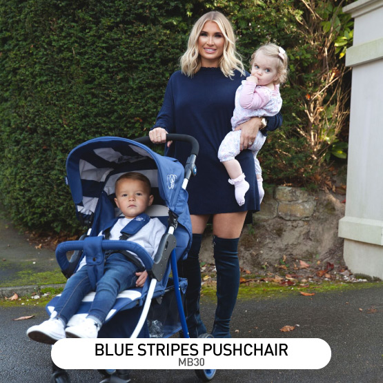 Blue Stripes MB30 Pushchair - by Billie Faiers