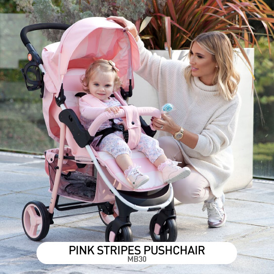 Pink Stripes MB30 Pushchair - by Billie Faiers