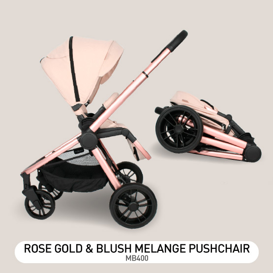 Rose Gold and Blush Melange MB400 Pushchair - by Billie Faiers
