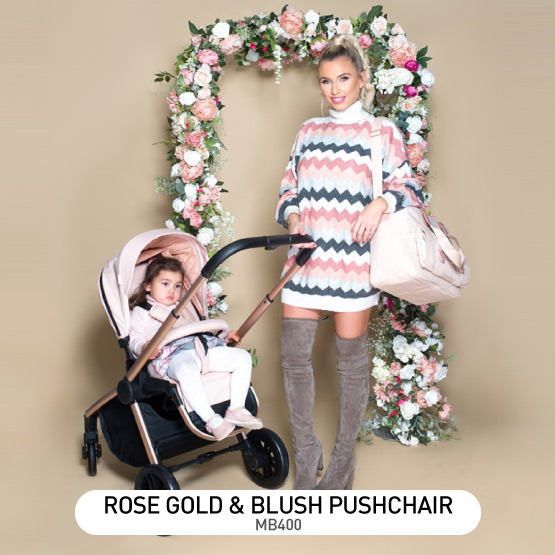 Rose Gold and Blush MB400 Pushchair - by Billie Faiers