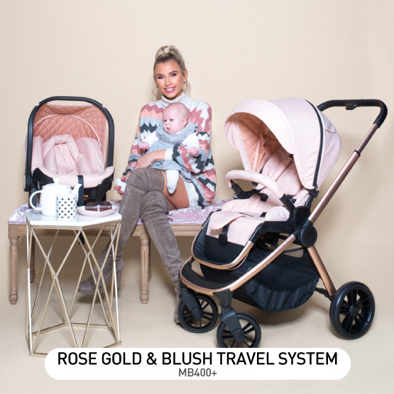 Rose Gold and Blush MB400 Travel System - by Billie Faiers