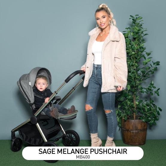 Sage Melange MB400 Pushchair - by Billie Faiers