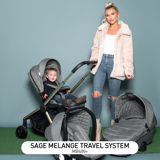 Sage Melange MB400 Travel System - by Billie Faiers