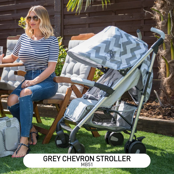 Grey Chevron MB51 Stroller - by Billie Faiers
