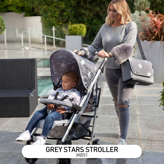 Grey Stars MB51 Stroller - by Billie Faiers