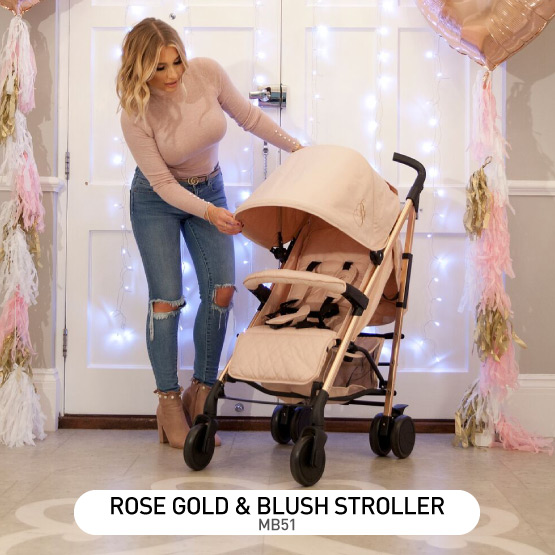 Rose Gold and Blush MB51 Stroller - by Billie Faiers