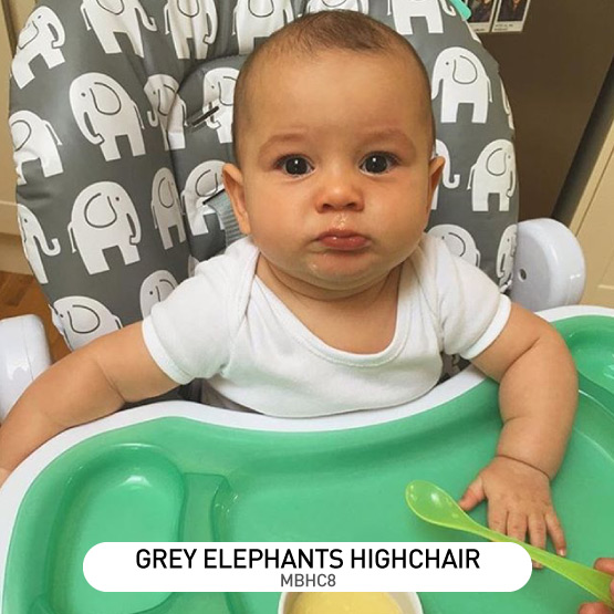 Grey Elephants Premium Highchair - by Billie Faiers