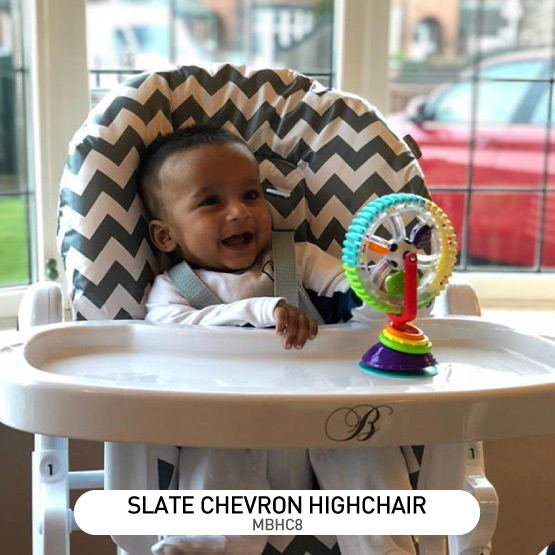 Slate Chevron Premium Highchair - by Billie Faiers
