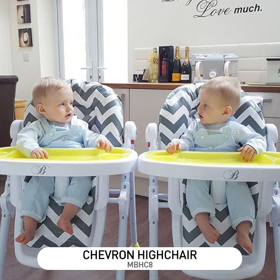 Grey Chevron Premium Highchair - by Billie Faiers