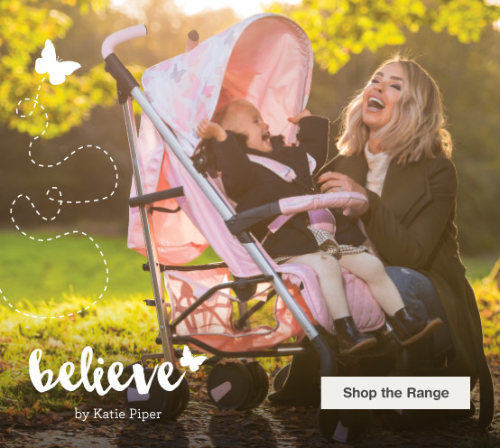 Katie Piper range of pushchairs and highchairs