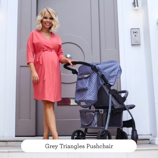 Grey Triangles Pushchair - Believe by Katie Piper