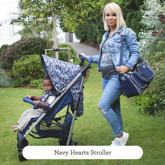 Navy Hearts Stroller - Believe by Katie Piper