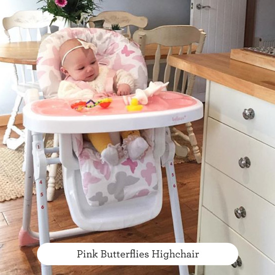 Pink Butterflies Highchair - Believe by Katie Piper
