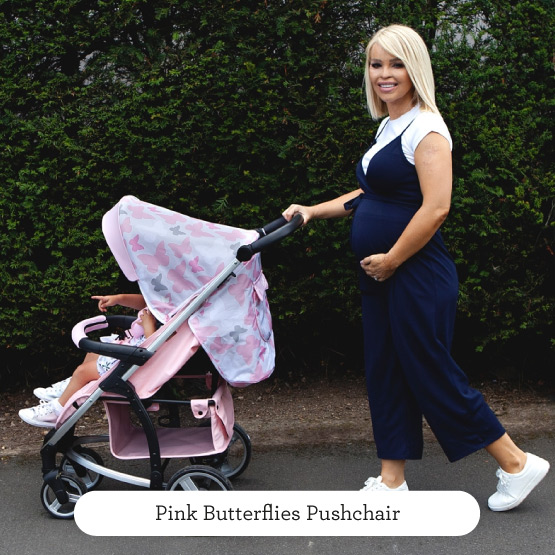 Pink Butterflies Pushchair - Believe by Katie Piper