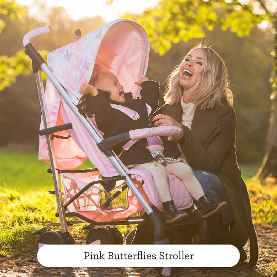 Pink Butterflies Stroller - Believe by Katie Piper