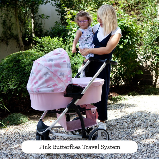 Pink Butterflies Travel System - Believe by Katie Piper