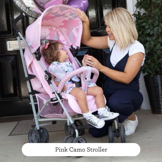 Pink Camo Stroller - Believe by Katie Piper