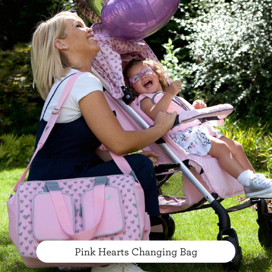 Pink Hearts Changing Bag - Believe by Katie Piper
