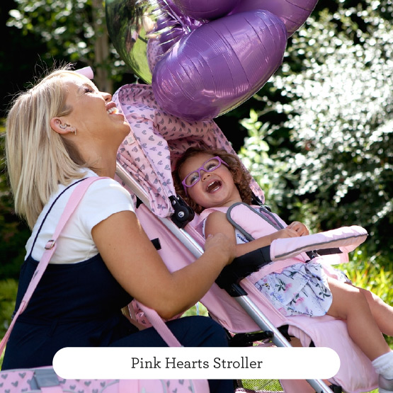 Pink Hearts Stroller - Believe by Katie Piper