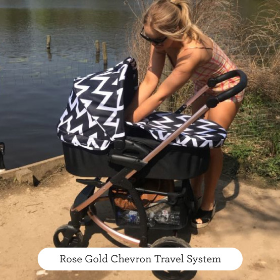 Rose Gold Chevron Travel System - Believe by Katie Piper