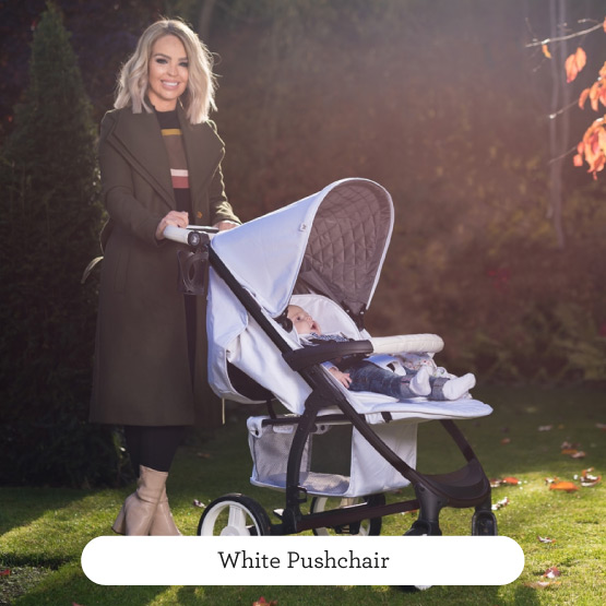 White Pushchair - Believe by Katie Piper