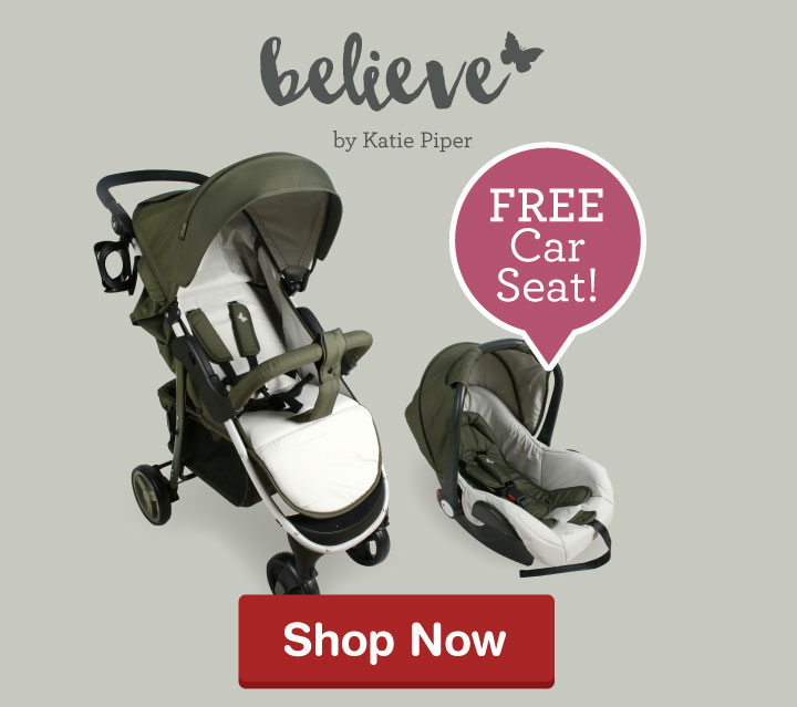 My Babiie Katie Piper MB30 Olive Pushchair and free car seat