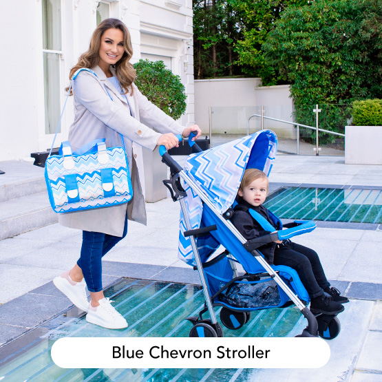 Pastel Blue Chevron Stroller - Dreamiie by Samantha Faiers