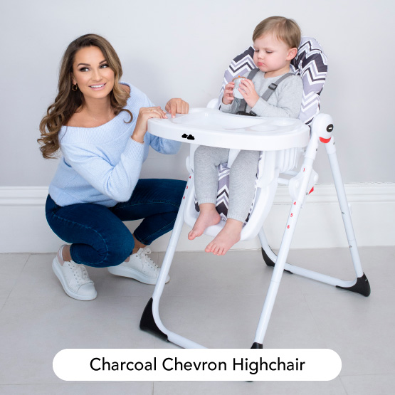 Charcoal Chevron Highchair - Dreamiie by Samantha Faiers