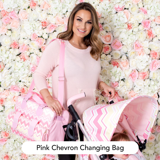 Pink Chevron Changing Bag - Dreamiie by Samantha Faiers