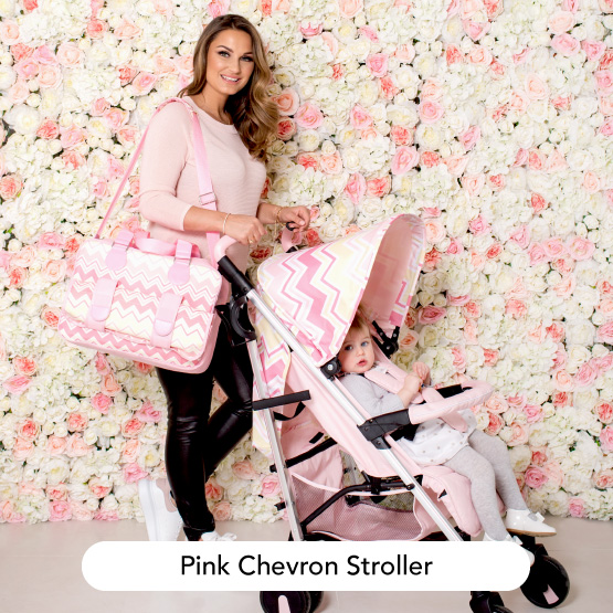 Pastel Pink Chevron Stroller - Dreamiie by Samantha Faiers